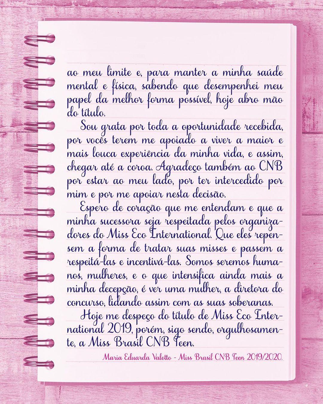 maria eduarda valotto, miss eco teen 2019. (renunciou). - Página 2 10821210