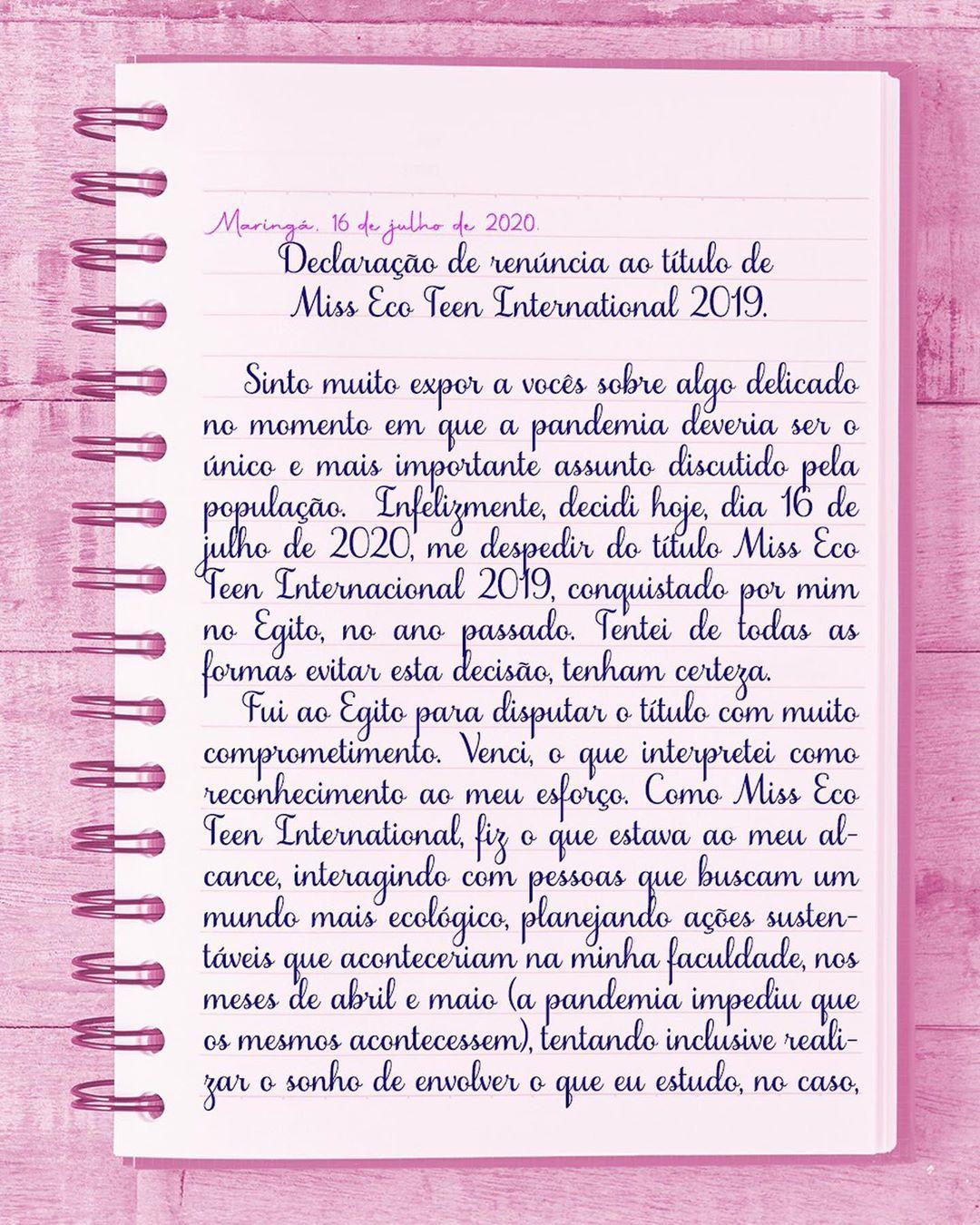 maria eduarda valotto, miss eco teen 2019. (renunciou). - Página 2 10933710