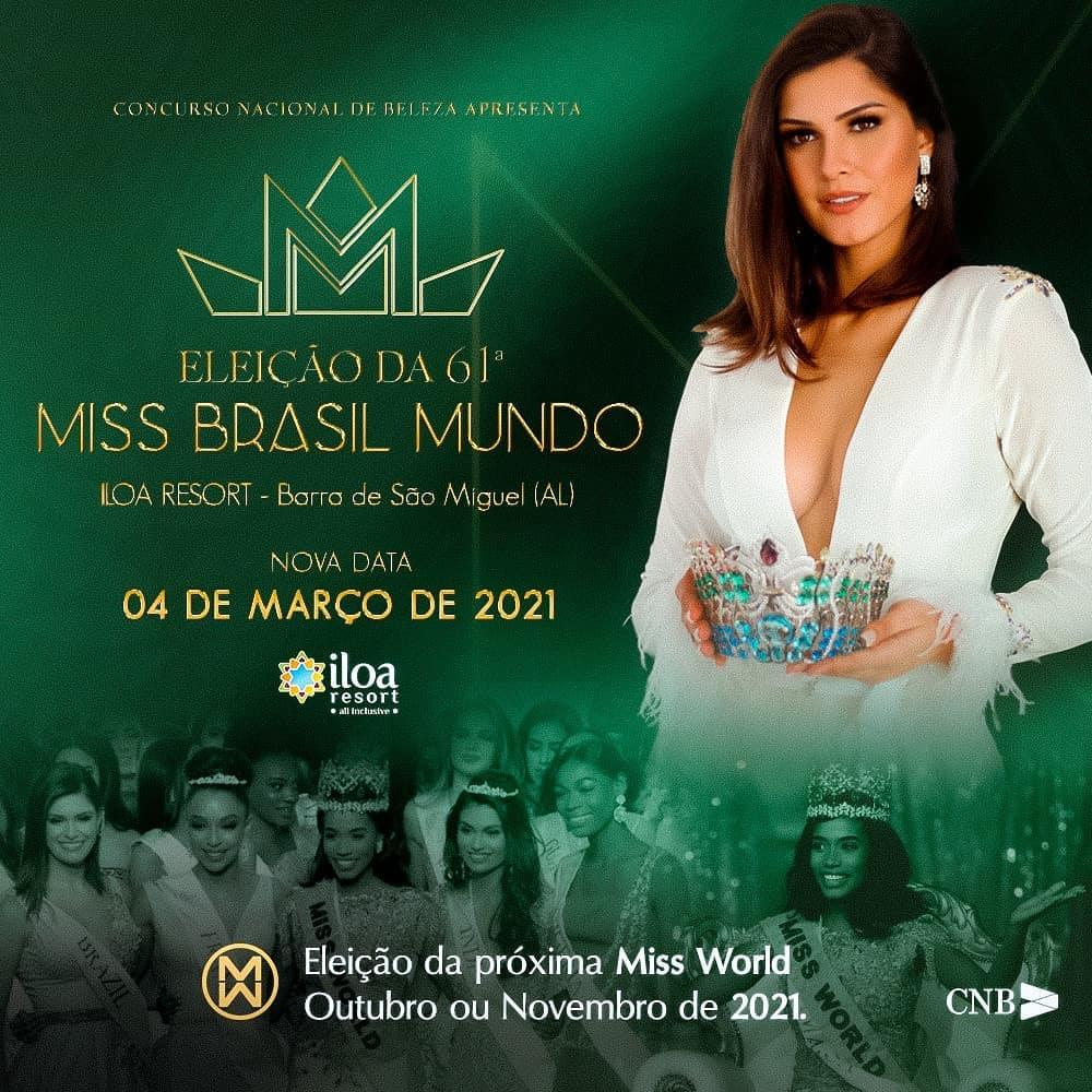 miss brasil mundo 2020 sera eleita no dia 4 de marco de 2021. 10947110