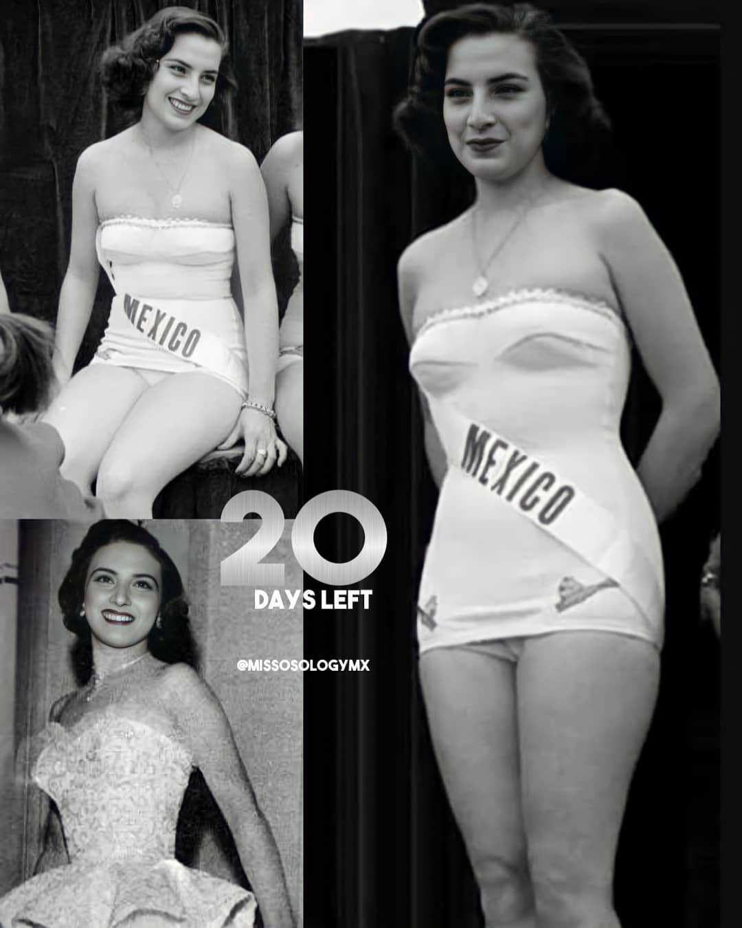 miss universe mexico 1952. (top 10). 20450910
