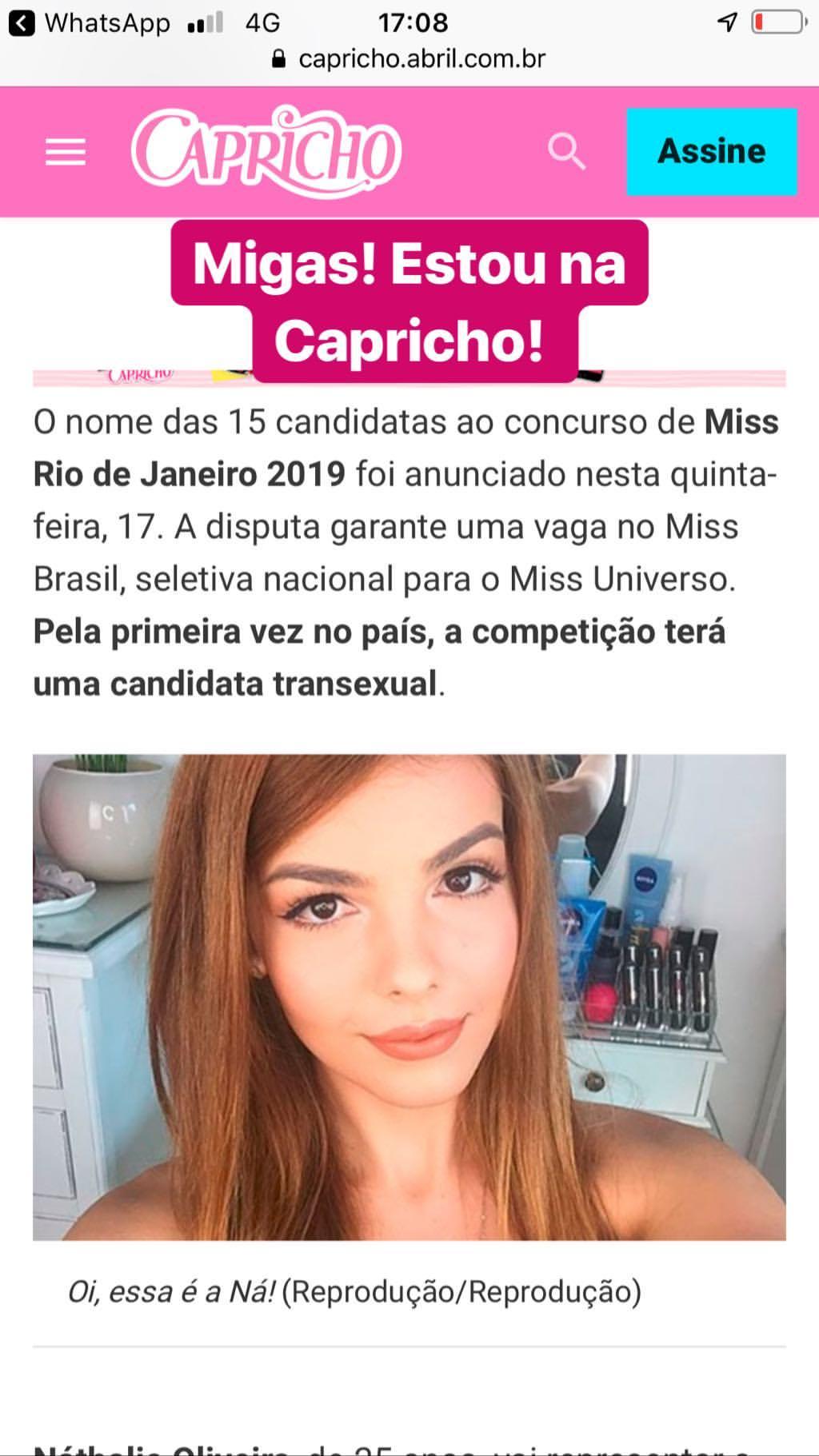 nathalie de oliveira, miss bom jardim 2019/1st runner-up de miss international queen 2016. - Página 7 49526010