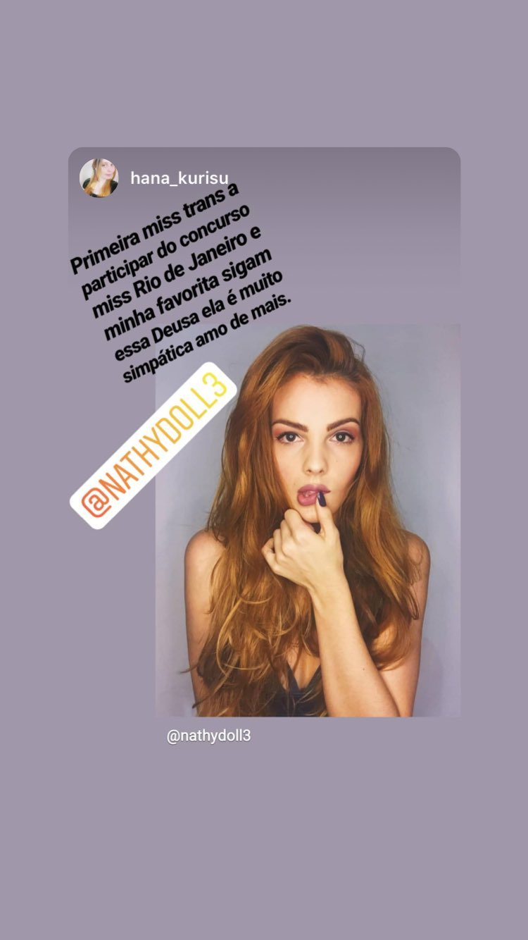 nathalie de oliveira, miss bom jardim 2019/1st runner-up de miss international queen 2016. - Página 6 49907311