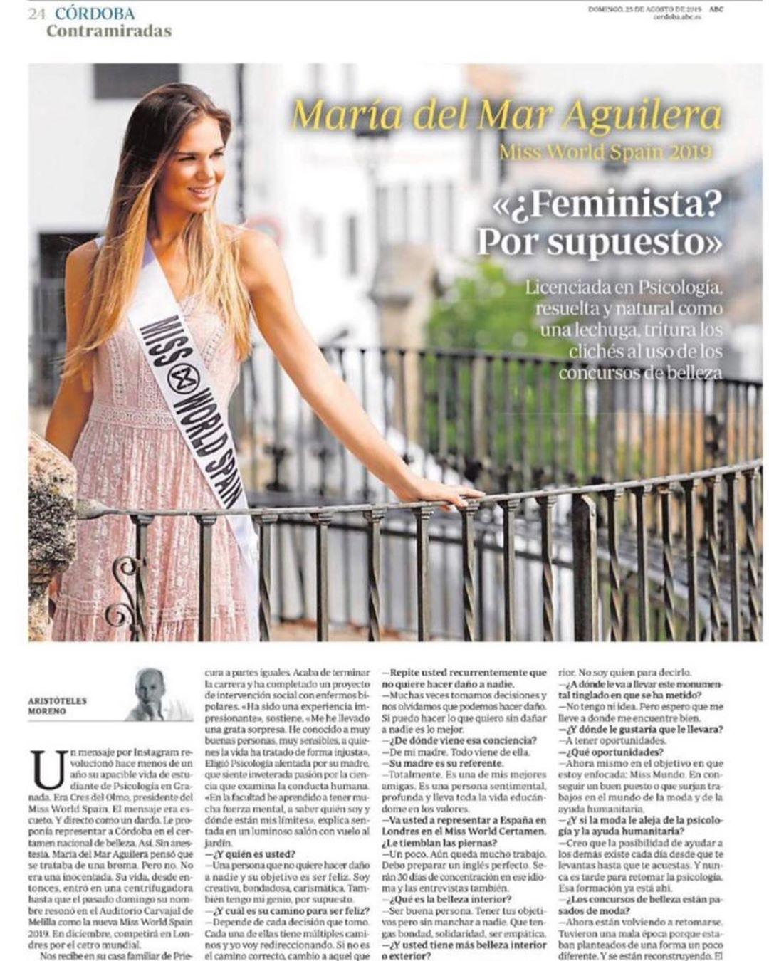 maria del mar aguilera, top 40 de miss world 2019. - Página 2 67795610