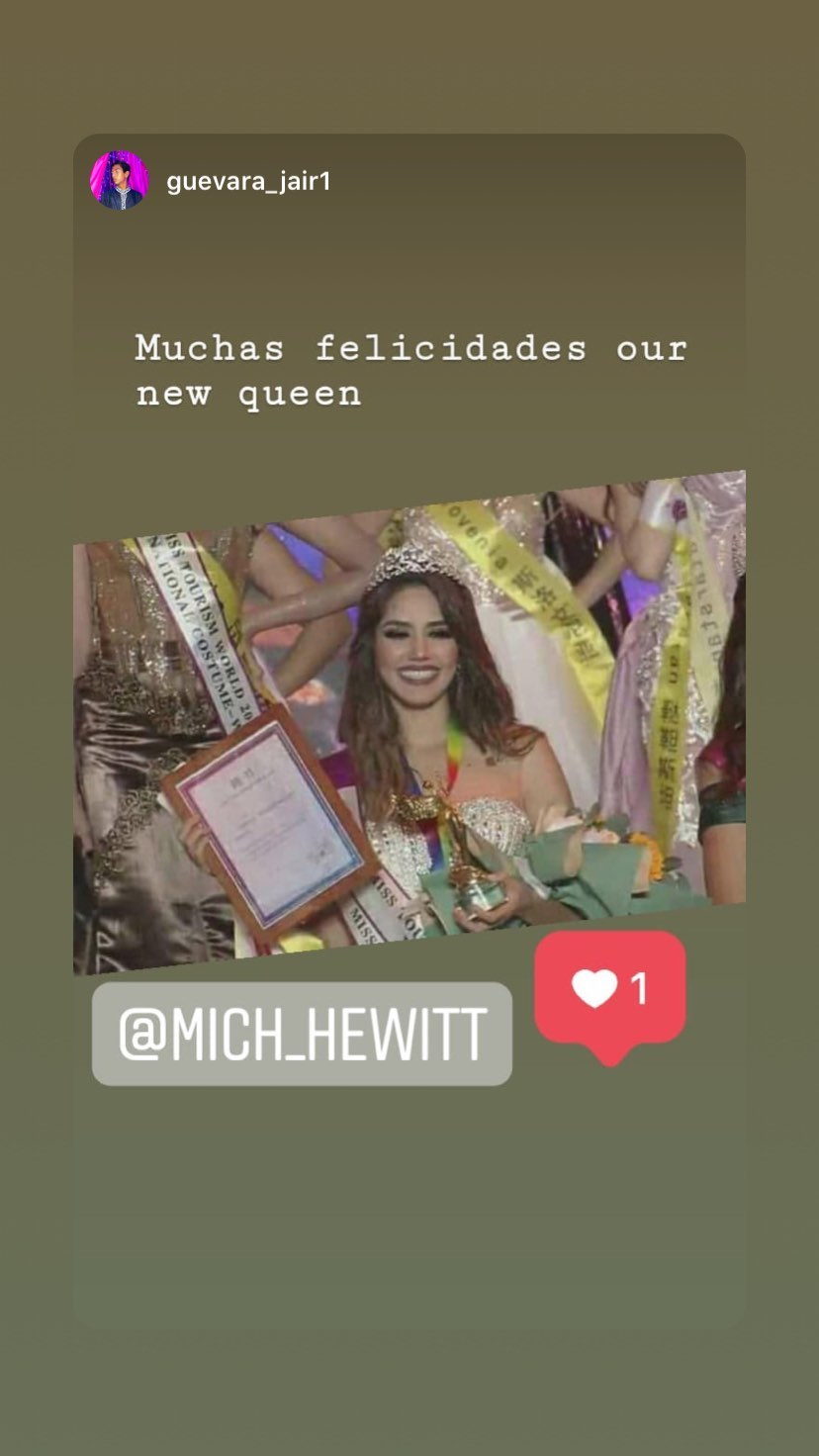 mich hewitt, miss tourism world 2019. - Página 4 69714110