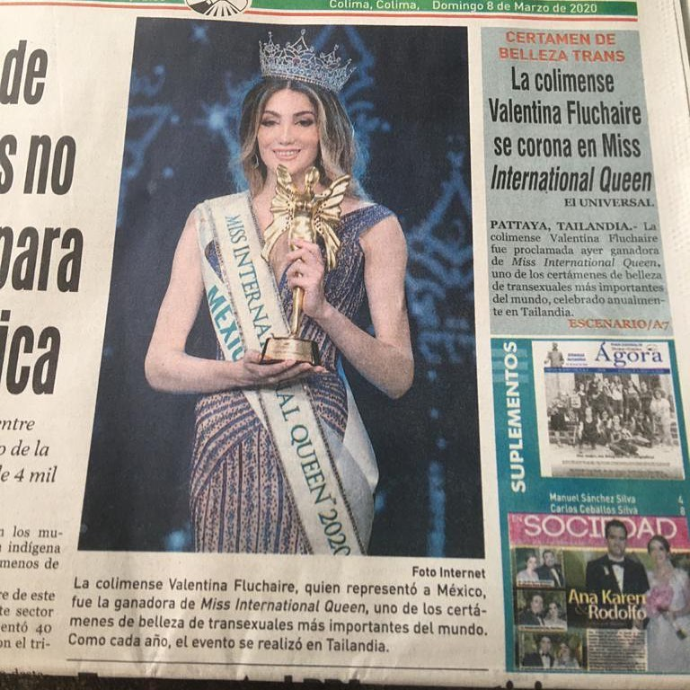 valentina fluchaire, miss international queen 2020. 89090210