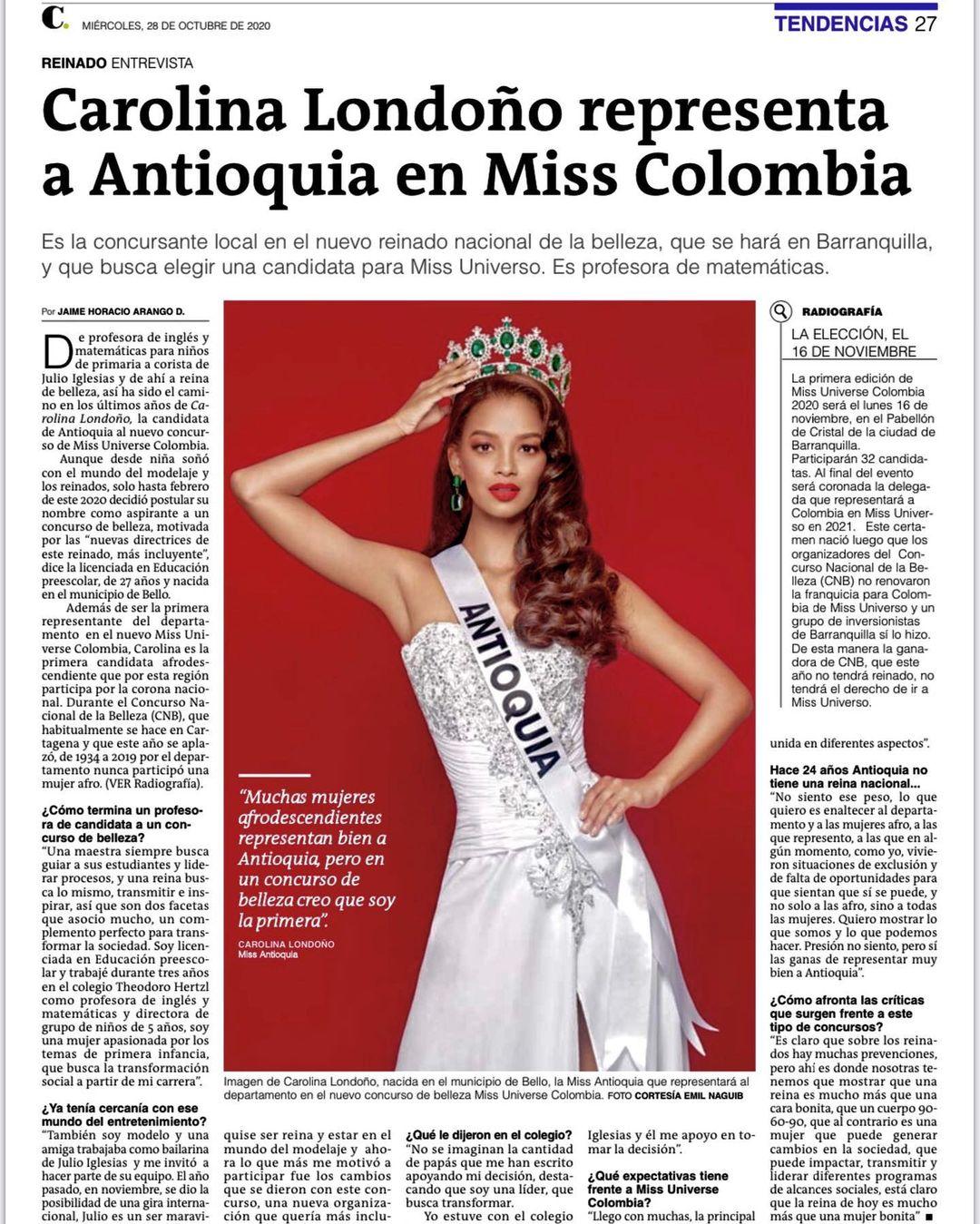 carolina londono, top 16 de miss colombia universo 2020. Carolo17
