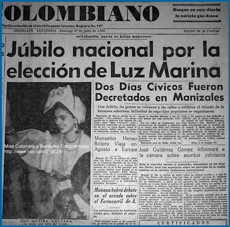 luz marina zuluaga, miss universe 1958. † - Página 5 Luzmar10
