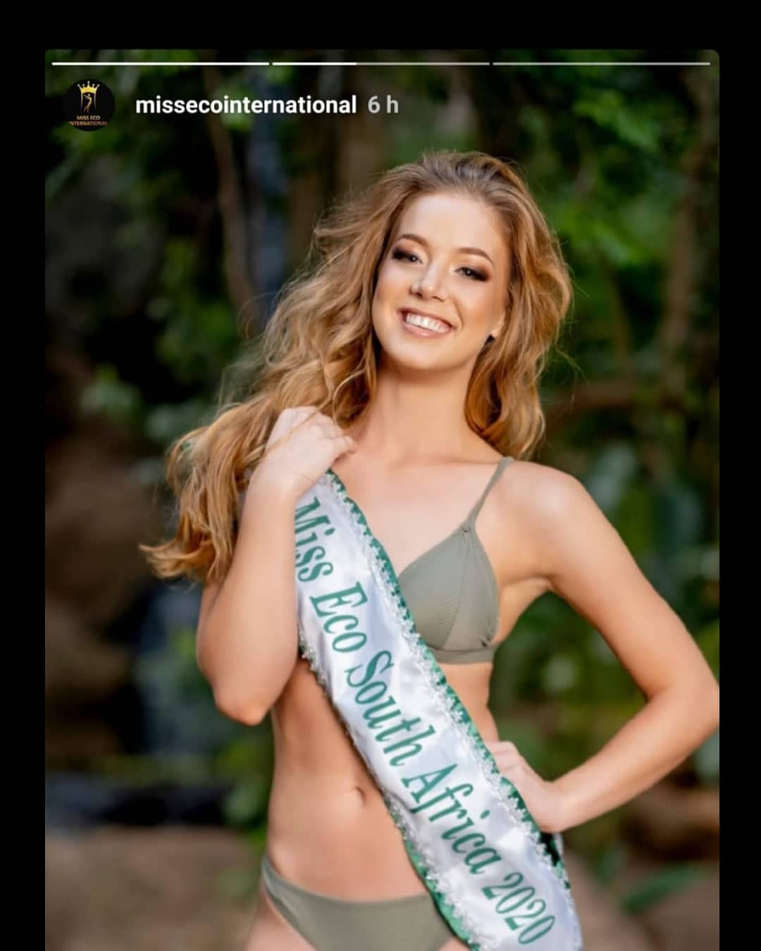 gizzelle uys, miss eco international 2021. Ql3hes10