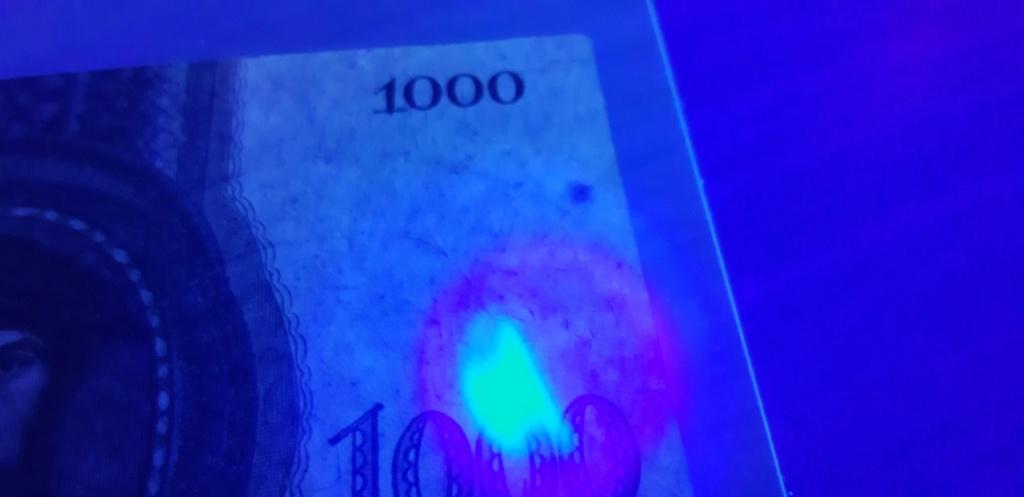 ¿Es útil la luz ultravioleta para poder detectar sobreimpresiones modernas/fraudulentas en billetes?  Thumbn18