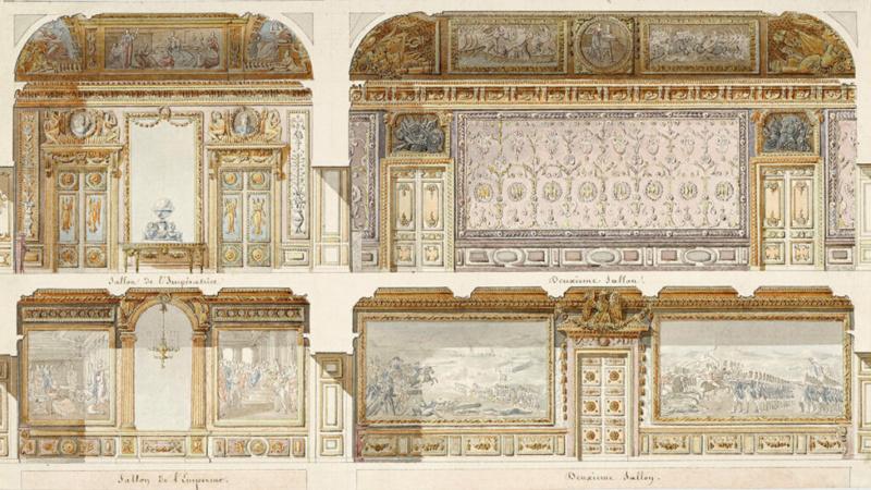Expo. Dessins pour Versailles, Vingt ans d'acquisitions 00plan10