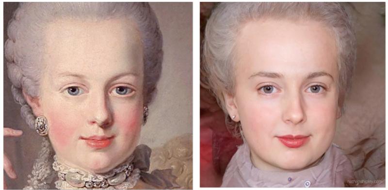 Marie Antoinette vivante ! Image photoréaliste Captu410