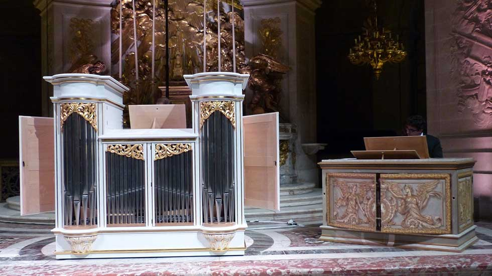 Orgues du facteur Blumenroeder pour le château de Versailles Chapel10