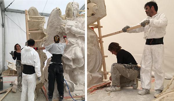 Visite à l'atelier de restauration des sculptures du C2RMF - Page 2 Dzomou10