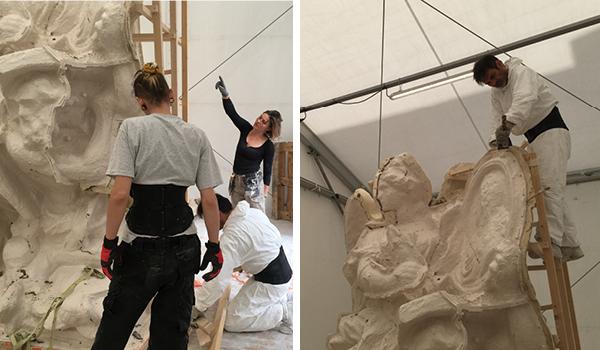 Visite à l'atelier de restauration des sculptures du C2RMF - Page 2 Dzomou11