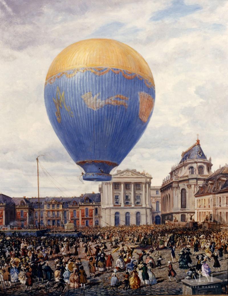 Montgolfier et Montgolfiere, ballon à Versailles E3gla612