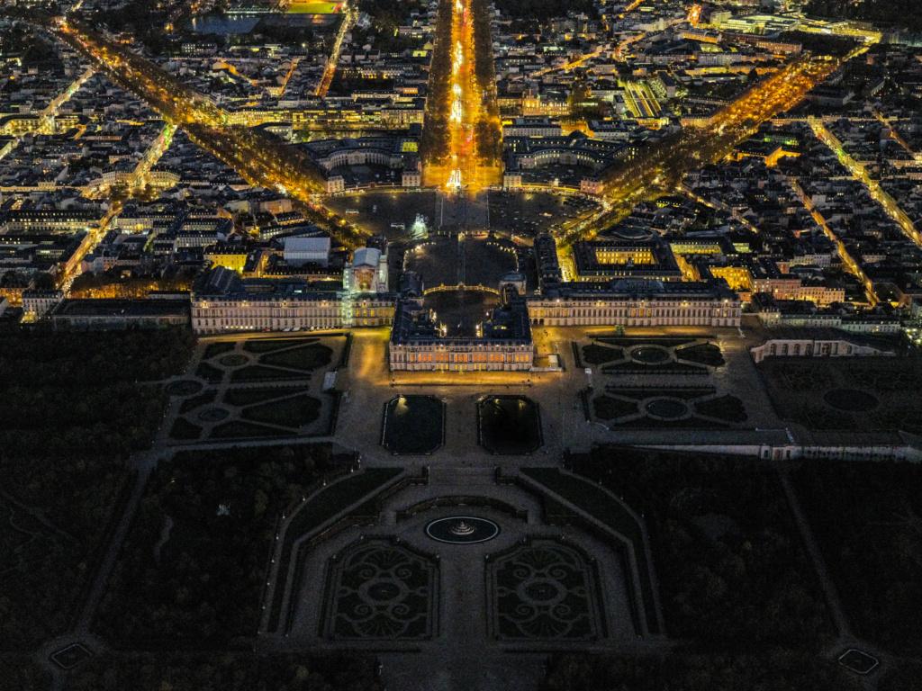 Versailles vu du ciel.  Elgrc510