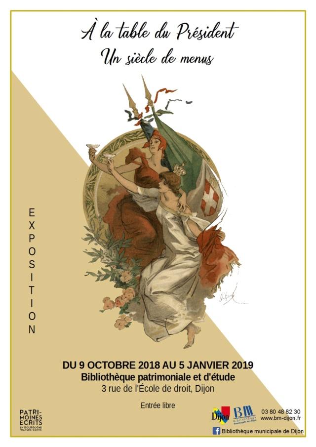Expo. À la table du Président : Un siècle de menus Illust11