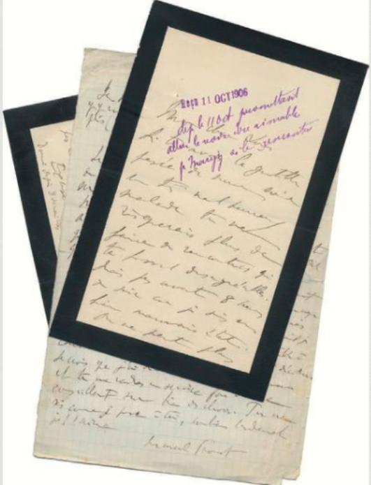 Journée d'études au château : Proust et Versailles  Lettre11