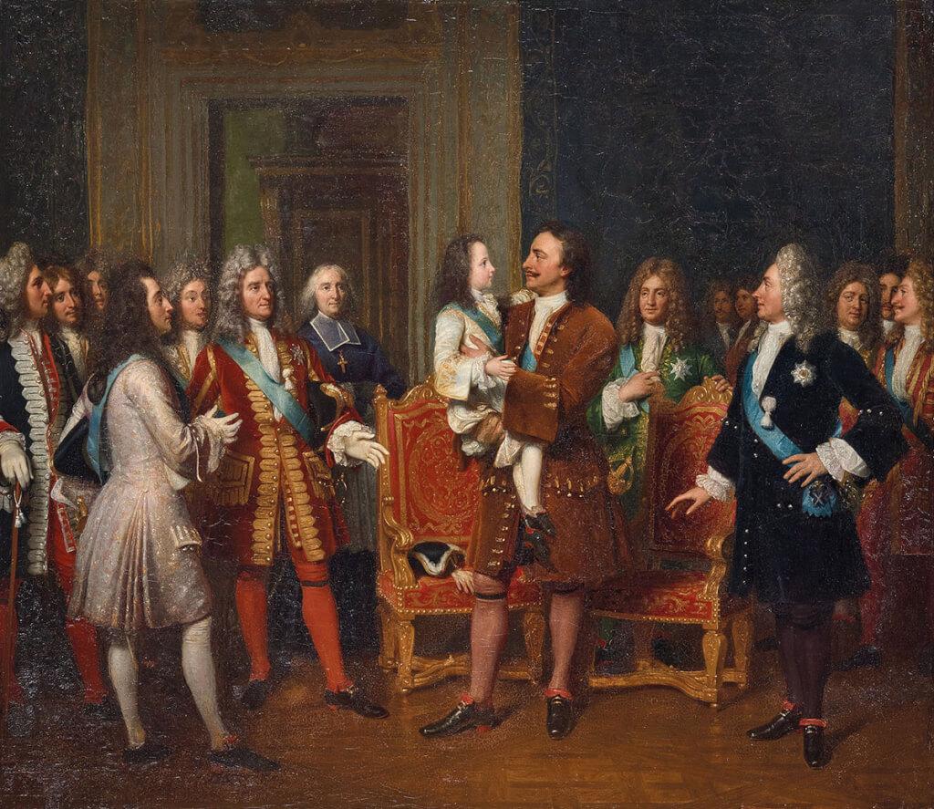Un Tsar en France, Pierre le Grand et la cour de Louis XV Mv-17410