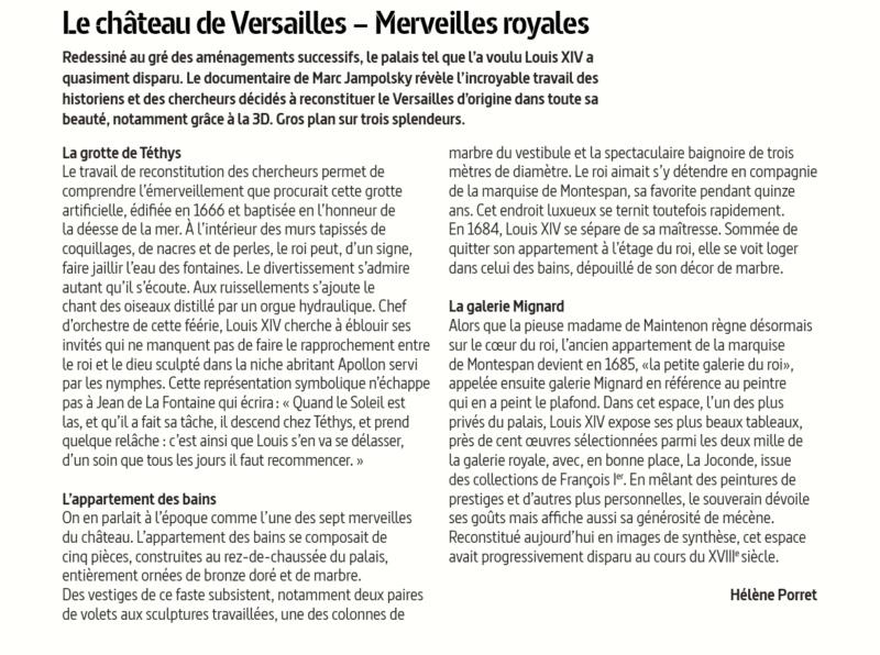 Arte : Versailles, le palais retrouvé du Roi-Soleil Palais14