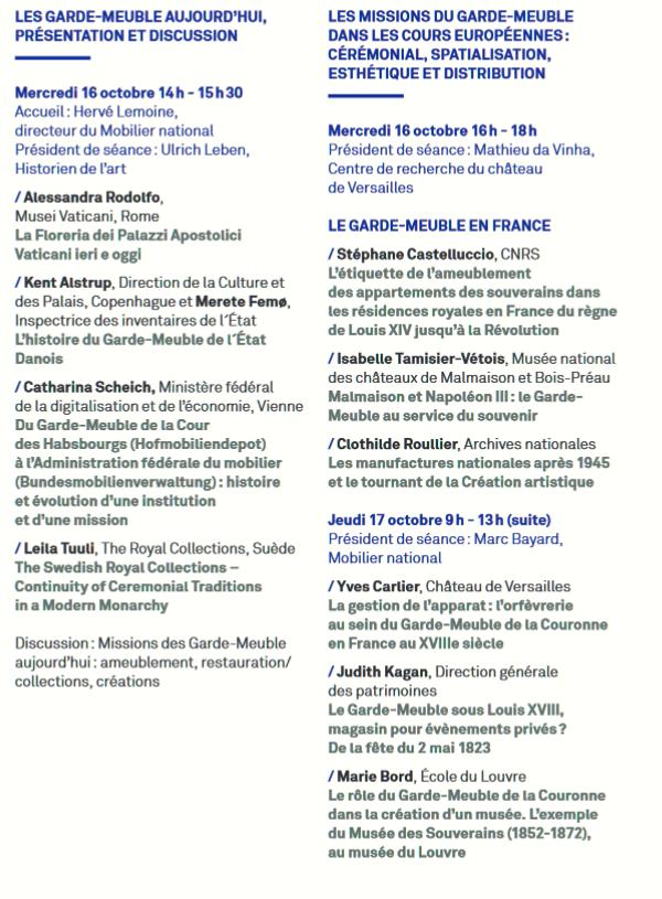 L'histoire du Garde-Meuble en Europe (XVIe-XXIe siècles) Progra10
