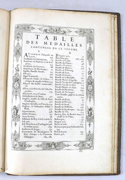 Les médailles de Louis XIV et leur livre Scree380