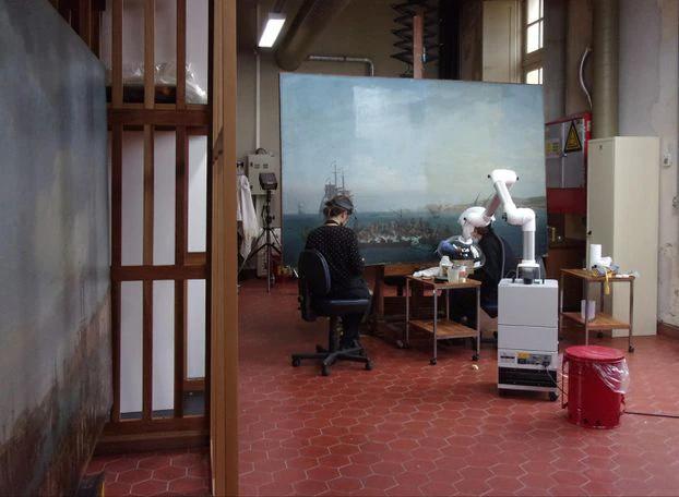 c2rmf à Versailles : Restauration des peintures Tiv3br10