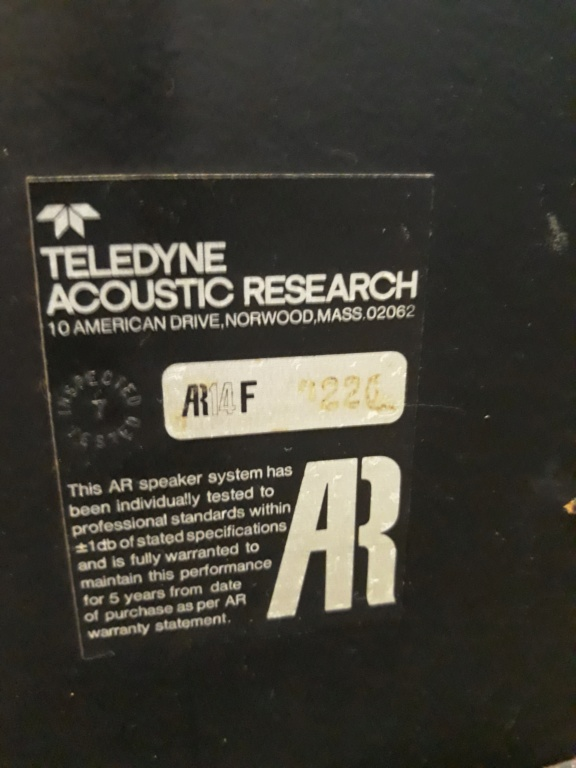 AR Teledyne Acoustic Research.  20190122