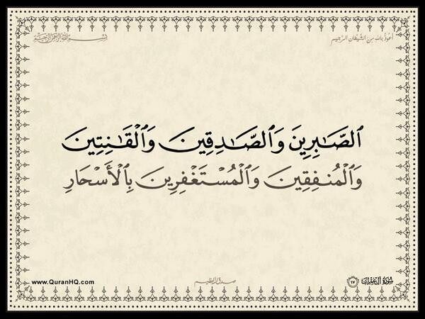 الآية 17 من سورة آل عمران الكريمة المباركة Aeoo_117