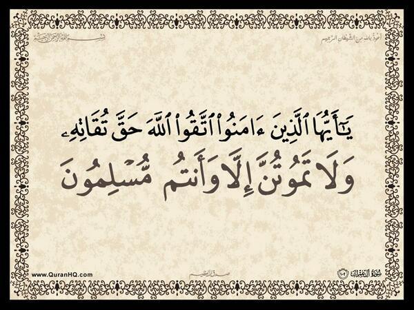 الآية 102 من سورة آل عمران الكريمة المباركة Aeoo_122