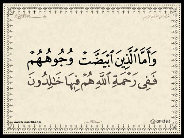 الآية 107 من سورة آل عمران الكريمة المباركة Aeoo_127