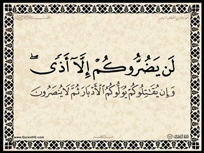 الآية 111 من سورة آل عمران الكريمة المباركة Aeoo_131