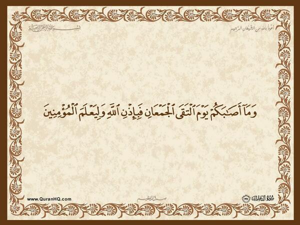 الآية 166 من سورة آل عمران الكريمة المباركة Aeoo_174