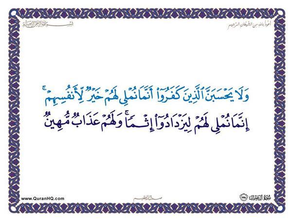 الآية 178 من سورة آل عمران الكريمة المباركة Aeoo_186