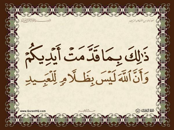 الآية 182 من سورة آل عمران الكريمة المباركة Aeoo_190