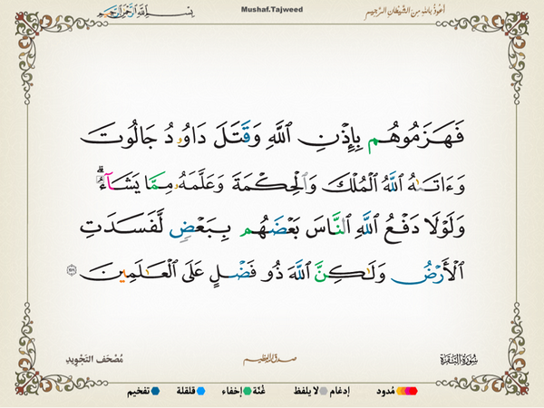 الآية 251 من سورة البقرة الكريمة المباركة Aeoo_218