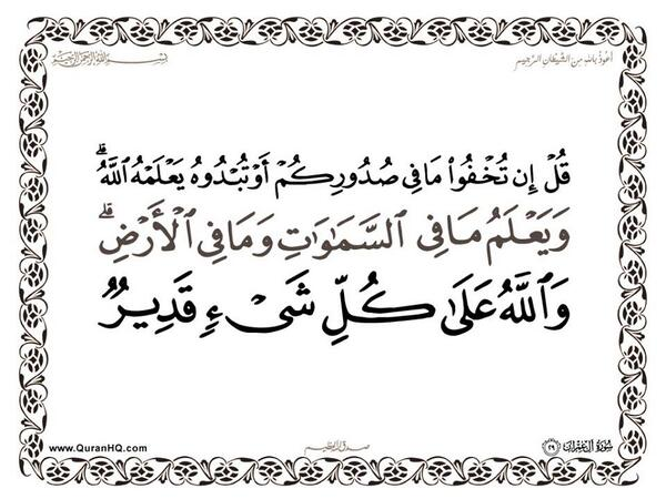 الآية 29 من سورة آل عمران الكريمة المباركة Aeoo_219