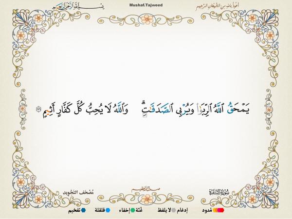 الآية 276 من سورة البقرة الكريمة المباركة Aeoo_245