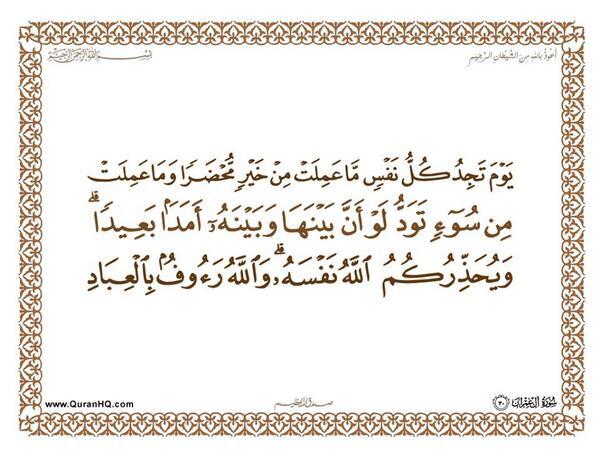 الآية 30 من سورة آل عمران الكريمة المباركة Aeoo_311