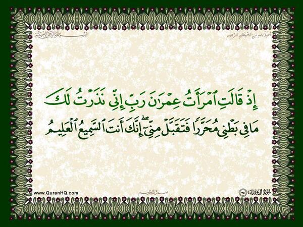 الآية 35 من سورة آل عمران الكريمة المباركة Aeoo_316