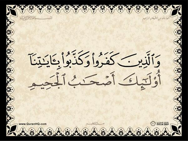 الآية رقم 10 من سورة المائدة الكريمة المباركة Aeoo_a19