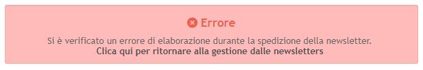 Errore durante invio newsletter Cattur11