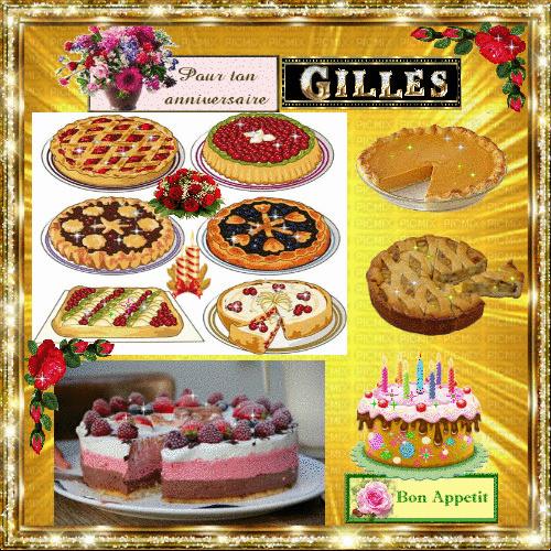 * Joyeux anniversaire à notre frère GILLES ! * Gateau10