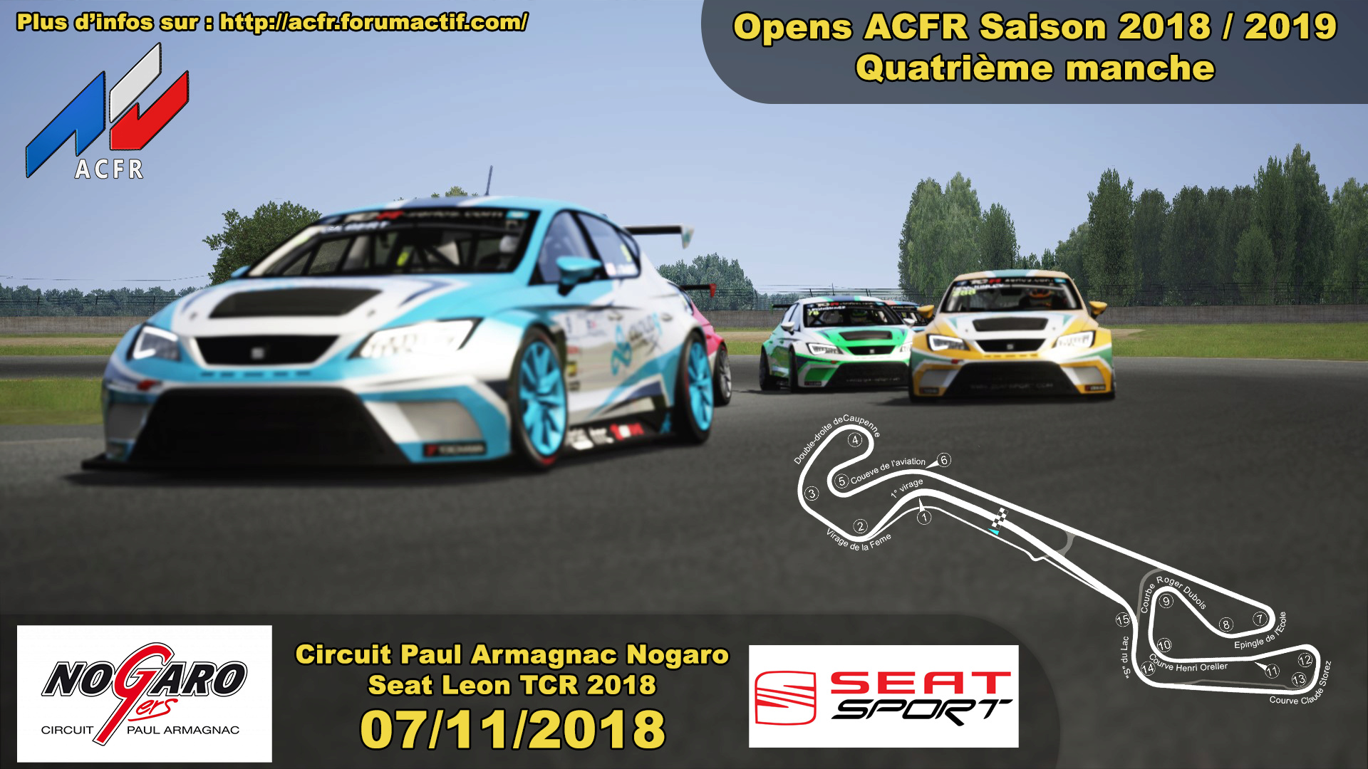 [Open ACFR] 07/11/2018 - Manche 4 saison 2018/2019 - Paul Armagnac Nogaro - Seat Leon TCR 2018 Open_411