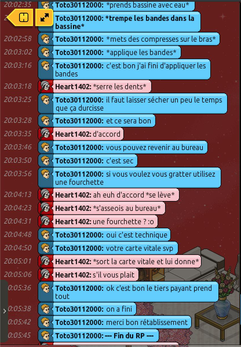 [C.H.U] Rapports d'actions RP de Toto30112000 2114