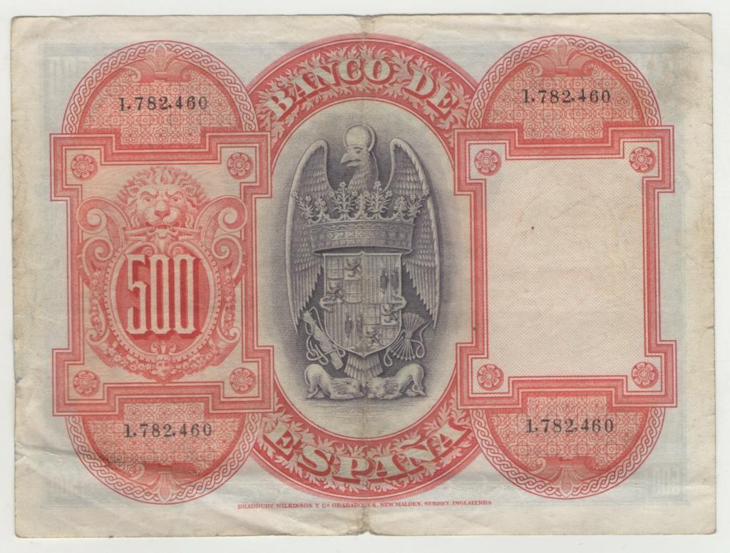 500 Pesetas 1927 Isabel la Católica Esczen11