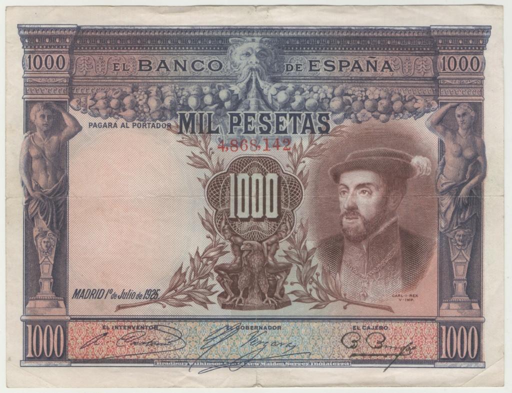 1000 Pesetas 1925, Carlos I  Esczen13