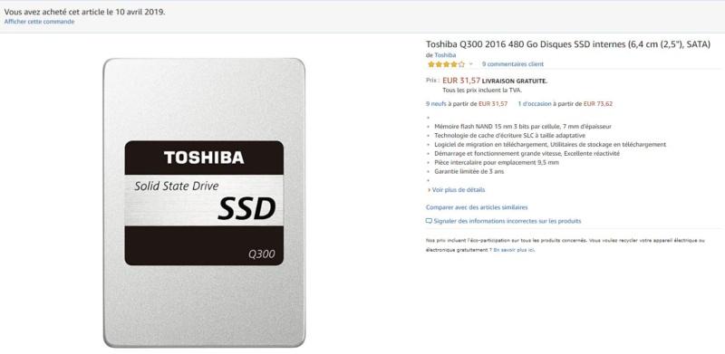 [RÉSOLU] Conseils DD Toshib10