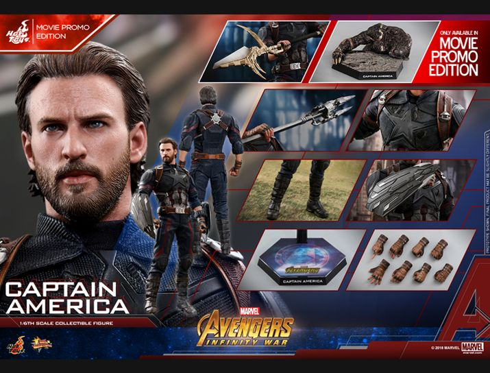 captainamerica - NEW PRODUCT: 1/6 - Hot Toys: MMS481 - Avengers: Infinity War - Captain America Nw152715