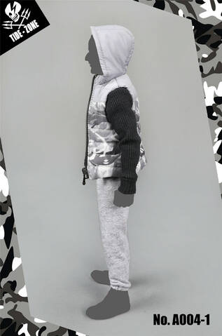 TIDE-ZONE 1//6 A004-1//2//3 Man/'s Camouflage Cotton Vest Male Cool Clothing Set New